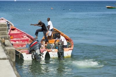 Kalastajat St Lucialla