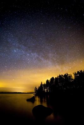 Tammijärven yötaivas